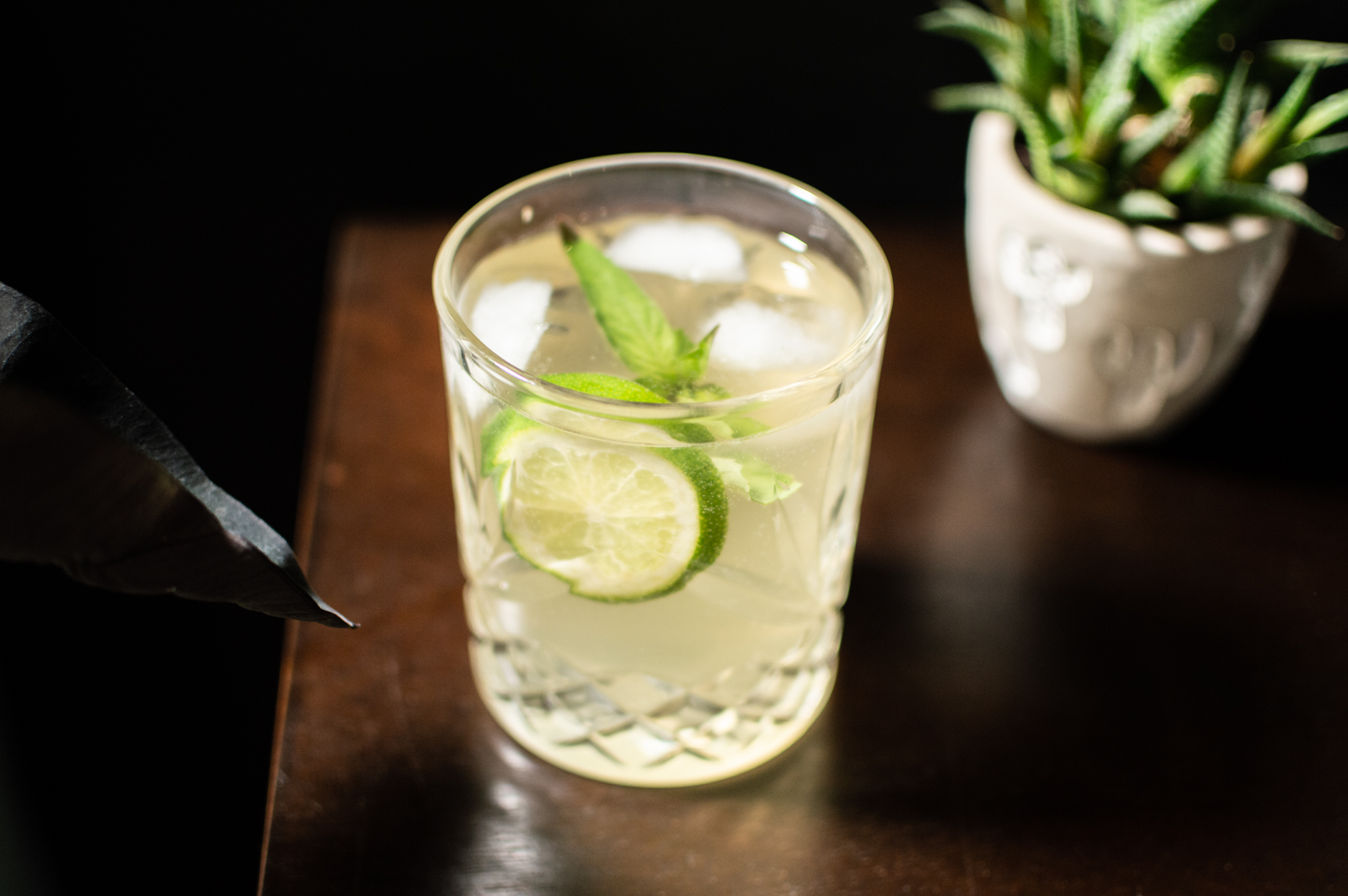 Cocktail Basilic à Nilgiri